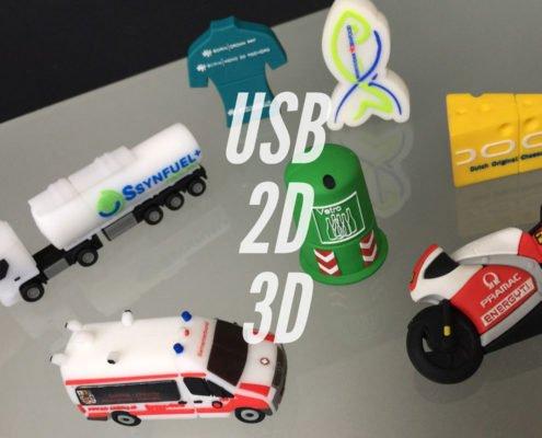 Chiavi USB personalizzate 2De 3D