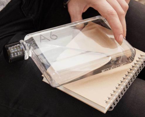 Bottiglie personalizzabili formato agenda