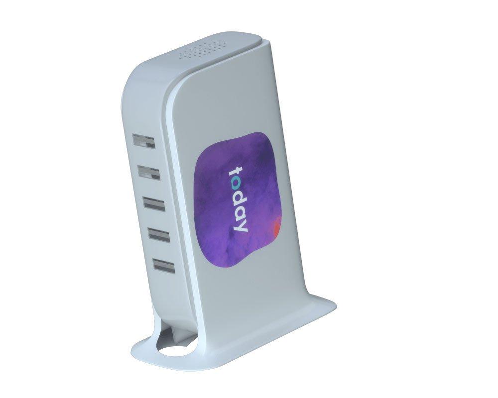 Stazione di ricarica con 5 porte USB