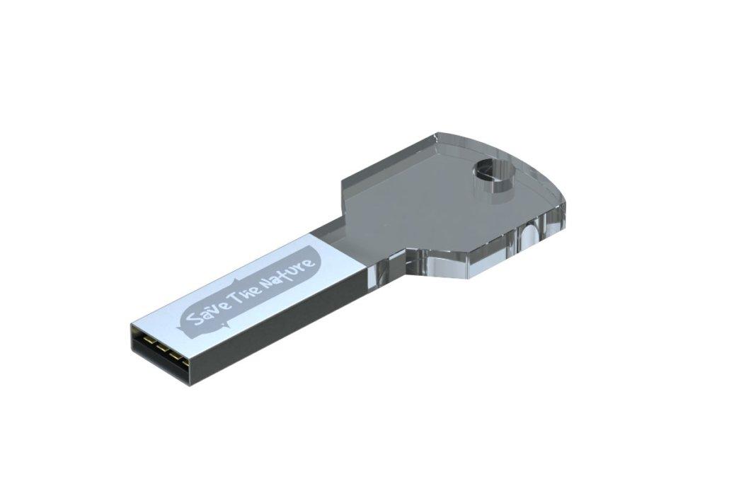USB in plexiglas con LED